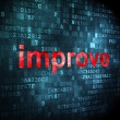 Stock Photo: Business concept: Improve on digital background