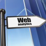 Web design concept: Web Analytics on Building background — Stock Photo #29608539