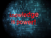Education concept: Knowledge Is power! on digital background — Stock Photo