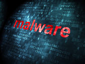 Protection concept: Malware on digital background — Stock Photo