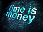 Timeline concept: Time is Money on digital background — Foto Stock