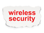 Protection concept: Wireless Security on Paper background — Stockfoto