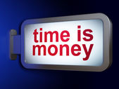 Timeline concept: Time is Money on billboard background — Stock Photo