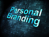 Advertising concept: Personal Branding on digital background — Stock Photo