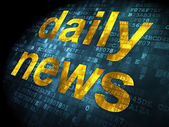 News concept: Daily News on digital background — Stock Photo