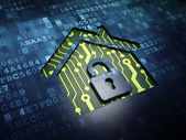 Safety concept: Home on digital screen background — Stock Photo