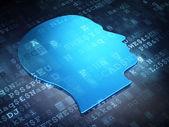 Finance concept: Blue Head on digital background — Stockfoto