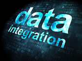 Information concept: Data Integration on digital background — Foto de Stock