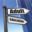 Education concept: Adult Education on Building background — Stock Photo #29662545