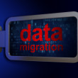 Постер, плакат: Data concept: Data Migration on billboard background