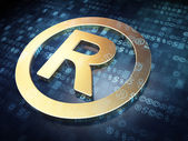 Law concept: Golden Registered on digital background — Stock Photo