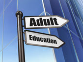 Education concept: Adult Education on Building background — 图库照片