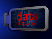 Data concept: Data Migration on billboard background — Stockfoto