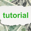 Education concept: Tutorial on Money background — Stock Photo