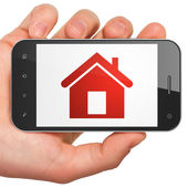 Privacy concept: Home on smartphone — Stock Photo