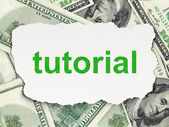 Education concept: Tutorial on Money background — Stok fotoğraf