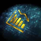 News concept: Decline Graph on digital background — Stock Photo