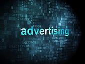 Marketing concept: Advertising on digital background — Stock Photo