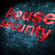 Security concept: House Security on digital background — Stock Photo