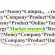 Marketing concept: Market Research on Paper background — Stock Photo