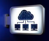 Cloud technology concept: Cloud Network on billboard background — Stock Photo