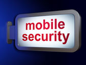 Safety concept: Mobile Security on billboard background — Stock Photo