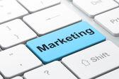 Marketing concept: Marketing on computer keyboard background — Stock Photo