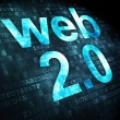 SEO web design concept: Web 2.0 on digital background — Foto de Stock