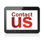 Advertising concept: Contact Us on tablet pc computer — Stockfoto