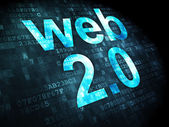 SEO web design concept: Web 2.0 on digital background — Stock Photo