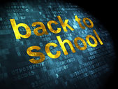 Education concept: Back to School on digital background — Stock Photo