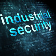 Privacy concept: Industrial Security on digital background — 图库照片