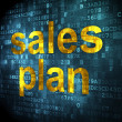 Marketing concept: Sales Plan on digital background — Stock Photo #29742715
