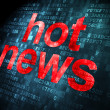 Hot News on digital background — Stock Photo