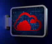 Cloud computing concept: Cloud on billboard background — Foto Stock
