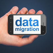 Information concept: Data Migration on smartphone — ストック写真