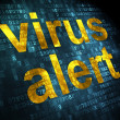 Foto Stock: Safety concept: Virus Alert on digital background
