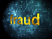 Protection concept: Fraud on digital background — Stock Photo