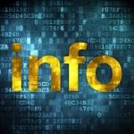 Data concept: Info on digital background — Stock Photo