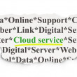 Cloud technology concept: Cloud Service on Paper background — Photo