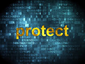 Privacy concept: Protect on digital background — Stock Photo