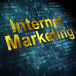 Marketing concept: Internet Marketing on digital background — Stock Photo