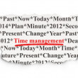 Timeline concept: Time Management on Paper background — Zdjęcie stockowe