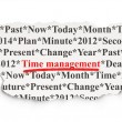 Timeline concept: Time Management on Paper background — 图库照片