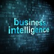 Business concept: Business Intelligence on digital background — Stock Photo