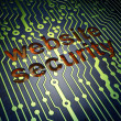 Privacy concept: Website Security on circuit board background — Stock Photo