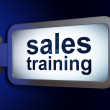 Стоковое фото: Marketing concept: Sales Training on billboard background