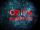 Advertising concept: Online Marketing on digital background — 图库照片