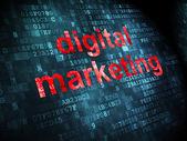 Advertising concept: Digital Marketing on digital background — Stock Photo