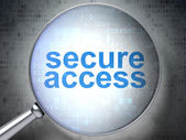 Protection concept: Secure Access with optical glass — 图库照片